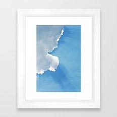 Sun rays behind Clouds Framed Art Print