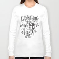imagine Long Sleeve T-shirts featuring IMAGINE by Matthew Taylor Wilson