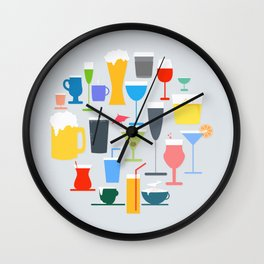 Time to Drink Wall Clock