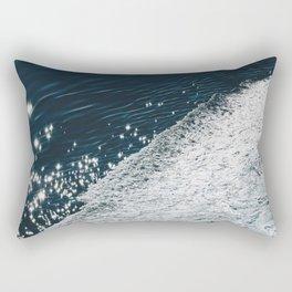 sea - midnight blue silk Rectangular Pillow