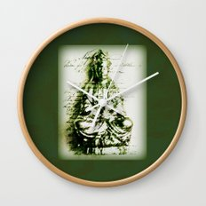 Antique Green Kwan Yin Wall Clock