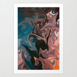 Molten Lava Water Slide Art Print