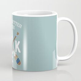 Life Is Better At The LAKE Painted Paddles Coffee Mug