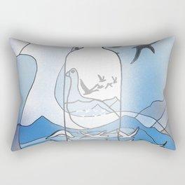 Goose on the rocks Rectangular Pillow