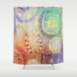 Circles Carnival Shower Curtain