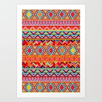india Art Prints featuring India Style Pattern (Multicolor) by Diego Tirigall
