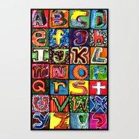 alphabet Canvas Prints featuring Alphabet by C Z A V E L L E
