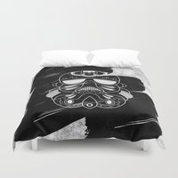 storm trooper Duvet Covers featuring Storm Trooper #2 by vrdgrs