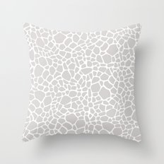 Grey Giraffe Print Throw Pillow