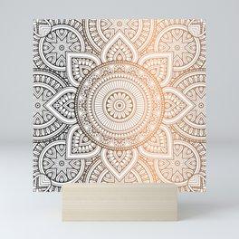 Gold Bronze Mandala Pattern Illustration Mini Art Print
