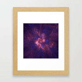 Abstract Blue And Purple Shape Framed Art Print