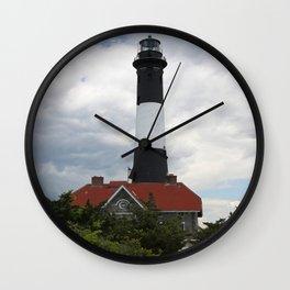 Lighthouse At Fire Island National Seashore Wall Clock