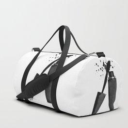 Black mascara fashion illustration Duffle Bag