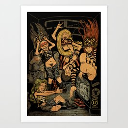 L7 rock Band Art Print
