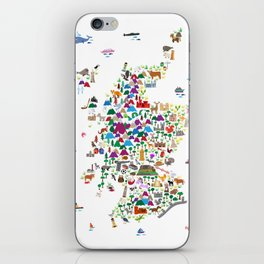 Animal Map of Scotland for children and kids iPhone Skin