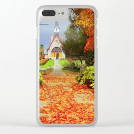 Step in history Clear iPhone Case