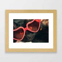 Valentine's Day Kitty Framed Art Print