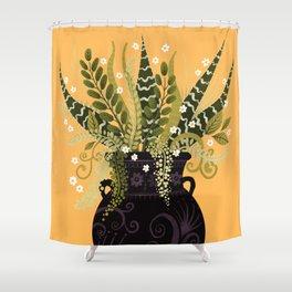 Black Vase I Shower Curtain