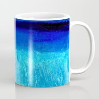 aqua Mugs featuring Aqua by BruceStanfieldArtistPainter