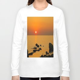 evening beach Long Sleeve T-shirt