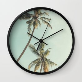 Palm Trees 3 Wall Clock