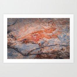 Coral Granite Art Print