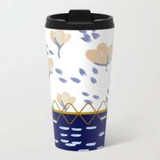 Stitched poppies Metal Travel Mug