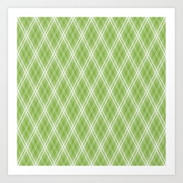 Color of the Year 2017 Designer Colors Greenery Argyle Plaid Art Print
