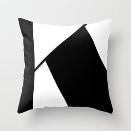 More than Shape / Capital Letter K Throw Pillow