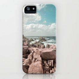 rocks and sea iPhone Case