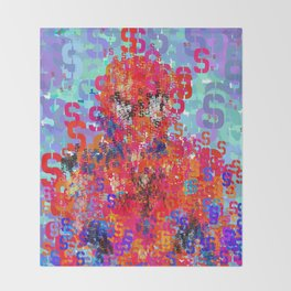 Superhero Type Art Comics Spider Throw Blanket