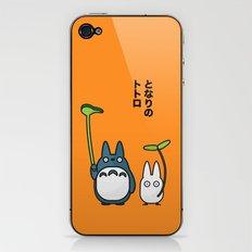 Chu & Chibi Totoro Pop Art - Orange Version iPhone & iPod Skin