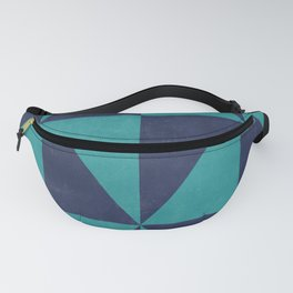 Geometric Triangle Pattern - Turquoise, Blue Fanny Pack