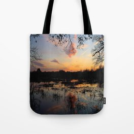 Ipswich River Sunset Tote Bag