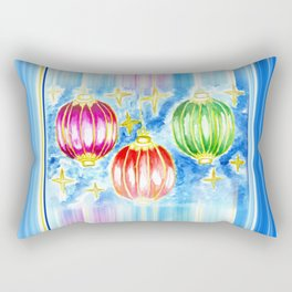 Three oriental lanterns Rectangular Pillow