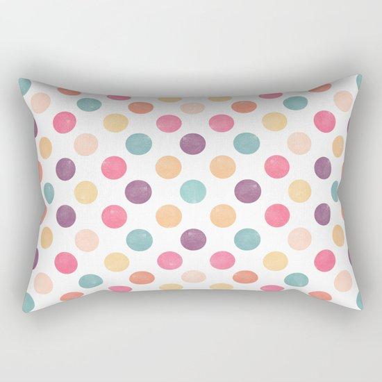 Watercolor Dots Pattern Rectangular Pillow
