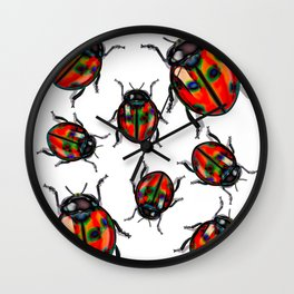 Hyper Spotted Lady Birds Wall Clock