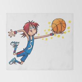 Basket Player Throw Blanket