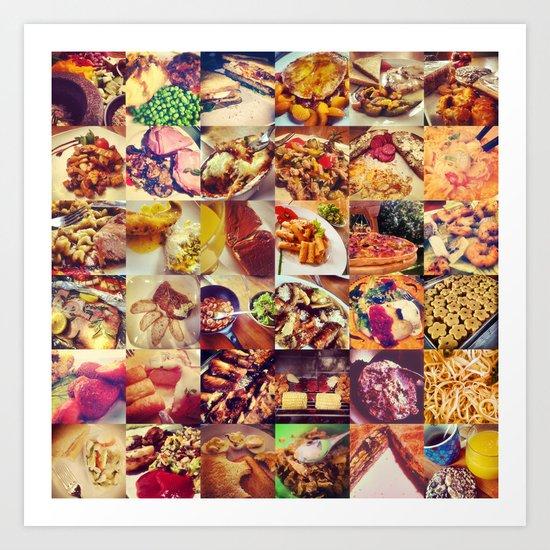 Food Porn Art Print