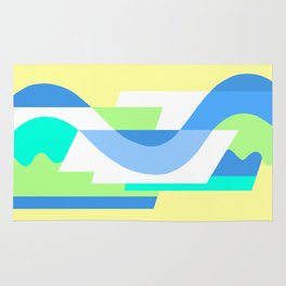 SUISSE - Art Deco Modern: FRESH WATER & SUNSHINE Rug