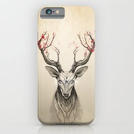 Deer tree iPhone Case