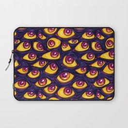 Wall of Eyes in Dark Purple Laptop Sleeve