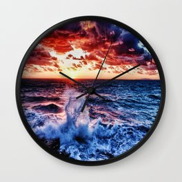 SuNset Waters Wall Clock