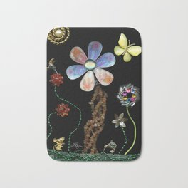 Happy Day in the Garden, Jewelry Scanography Bath Mat