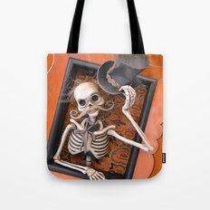 Rucus Studio Gentleman Skeleton Tote Bag