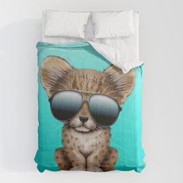 Cute Baby Cheetah Wearing Sunglasses Comforters