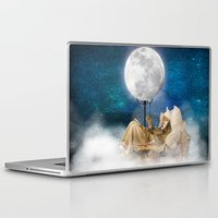 sandman Laptop & iPad Skins featuring Good Night Moon by Diogo Verissimo