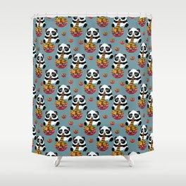 Cute fast food panda Shower Curtain