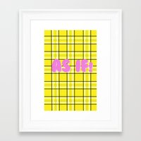 clueless Framed Art Prints featuring Clueless by Stephanie Ross