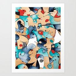 Abstrat High Tea Contrast Art Print